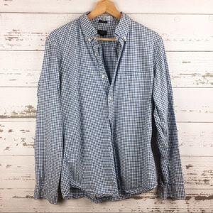 J CREW Slim Fit Oxford Gingham Button Down Shirt
